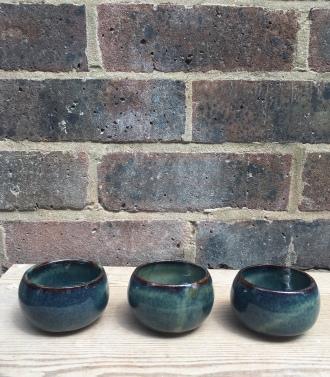 Blue moon sake cups